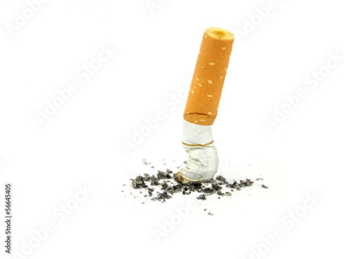 Fotografia, Obraz  Cigarette butt. Stop smoking concept