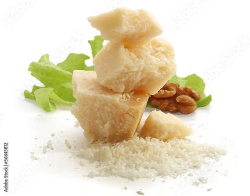 Fotografie, Obraz  Pieces of parmesan