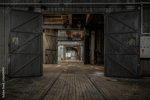 Large industrial door Wallpaper Mural