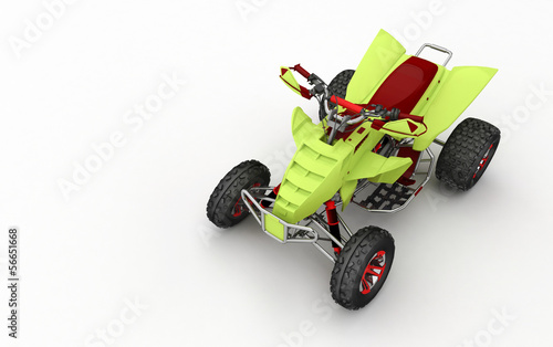 Moto quad in 3D