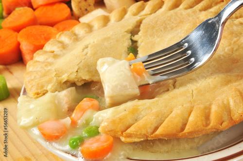 Chicken pot pie closeup