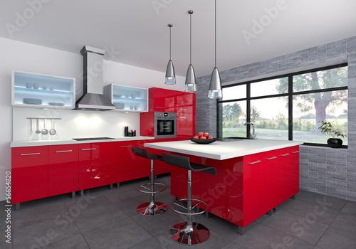 Fotografie, Obraz  Cuisine rouge