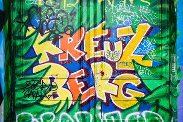 Fototapeta Kreuzberg graffiti in Berlin, Germany