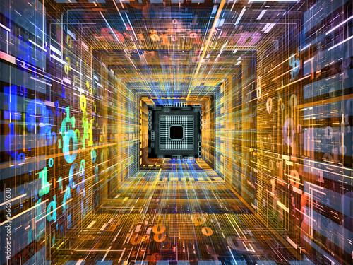 Fototapeta Inner Life of Numbers obraz