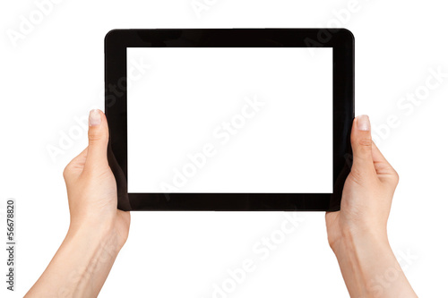 Fotografie, Obraz  female hands holding a tablet