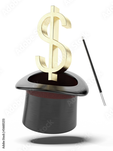 Sign of dollar in a cylinder