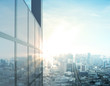 Leinwanddruck Bild - modern city