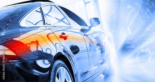 Fototapeta Rear view of luxury car obraz