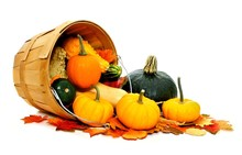 Autumn Vegetables Spilling Fro...