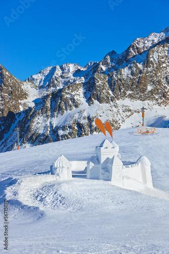 Fotografie, Obraz  Snow fort in mountains ski resort - Innsbruck Austria