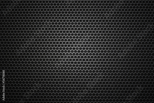 Carta da parati Black iron speaker grill texture. Industrial background