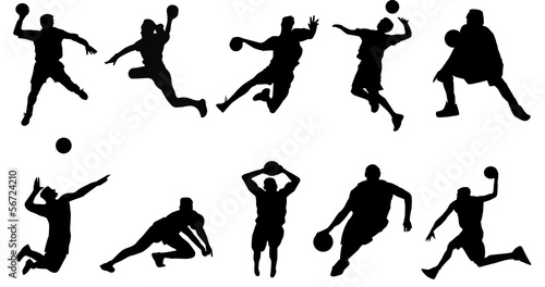 basketball volleyball handball sports Fototapet