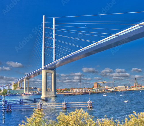 Fotografie, Tablou  Neue Rügenbrücke | Strelasund