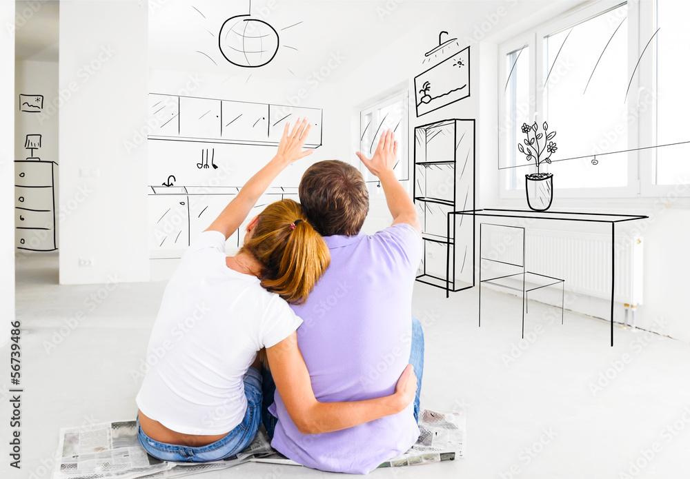 Fototapeta new apartment