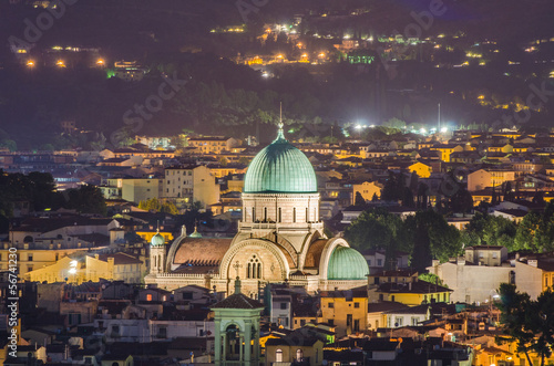 Photo Jewish Synagogue of Florence from top