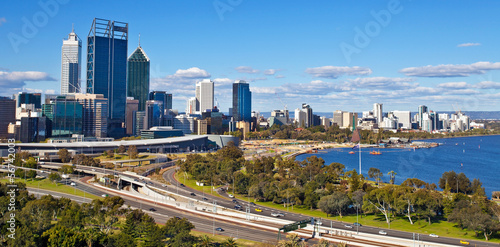 Photo sur Toile Australie Perth skyline, west Australia