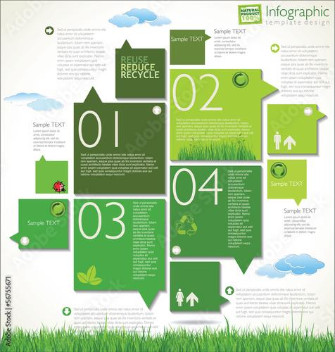Fotografie, Obraz  Modern ecology design template