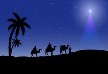 Three Wise Men And Christmas S...