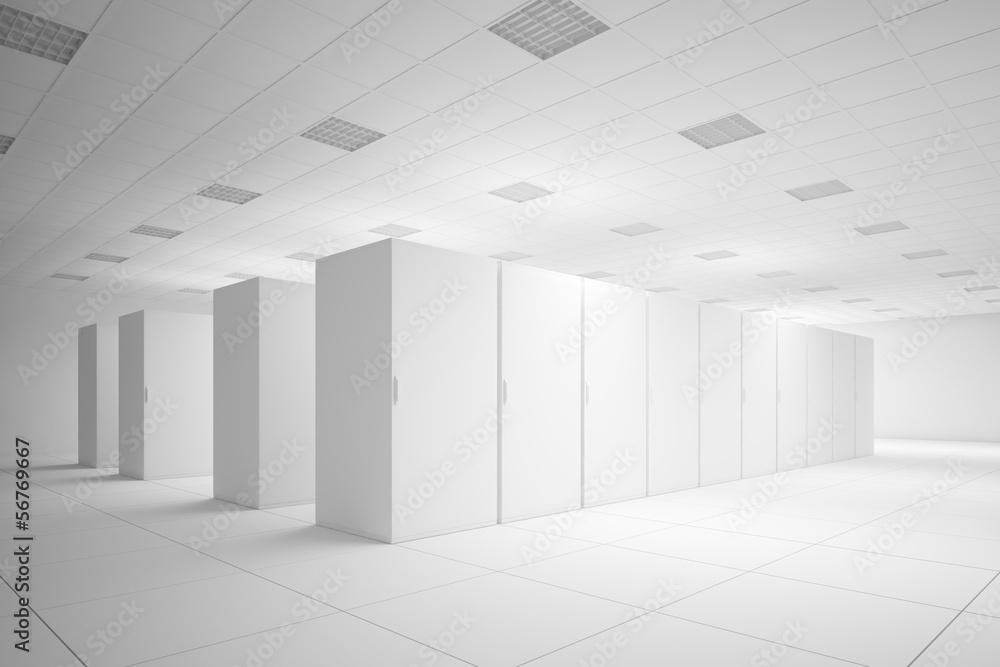 Fototapeta White server room