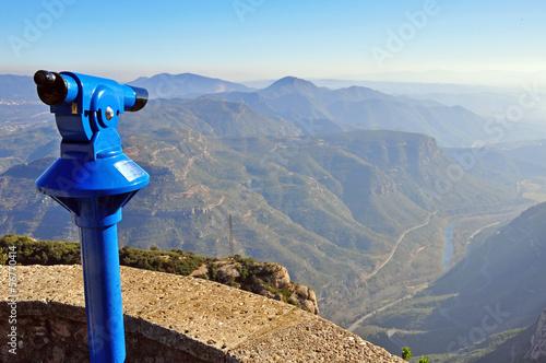 Obraz na plátně Viewpoint of Montserrat