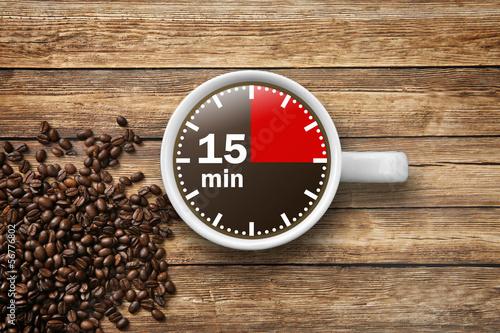Canvastavla 15 min Kaffeepause