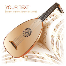 Late Baroque Era Lute With Mus...