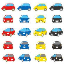 自動車 赤、青、黄、...