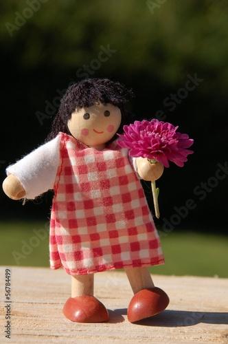 Fotografie, Obraz  Mädchen mit Blume abstrakt