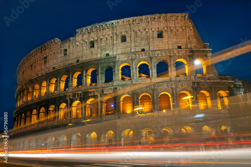 222 - Colosseum Traffic lights Wallpaper Mural