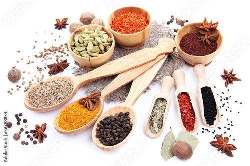 Canvas Prints Spices Various spices and herbs isolated on white