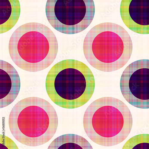 Staande foto Kunstmatig seamless geometric polka dots pattern