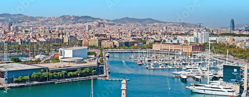 Papiers peints Barcelona Panoramic view of the Barcelona harbor