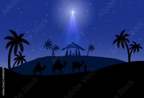 Poster Violet Christmas scene