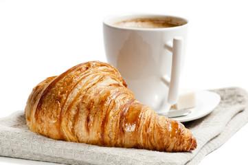 Fototapeta Do piekarni Tasse café et croissant