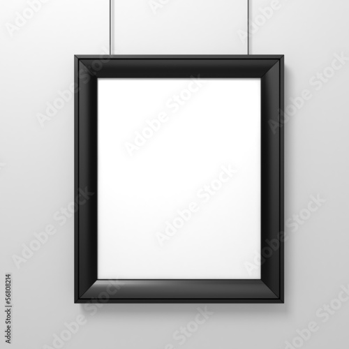 ba533bca0fd blank frame on white wall - Buy this stock illustration and explore ...
