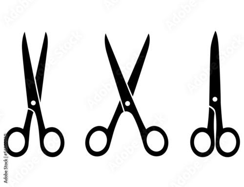 Fotografija isolated black scissors