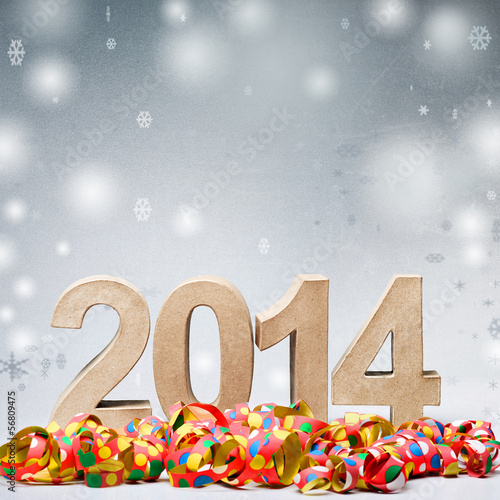 Poster  Celebrating New Year 2014
