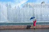 Teenage Young Woman with Umbrella