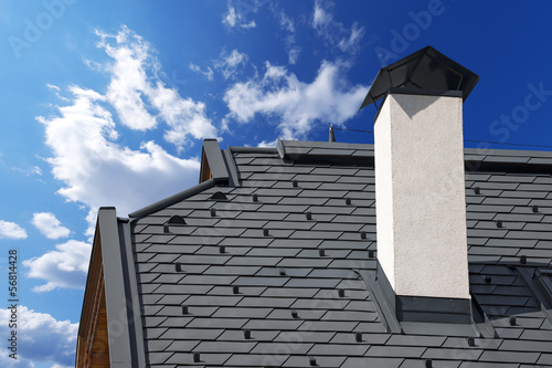 Fotografia Metal Roof with Snow Guards