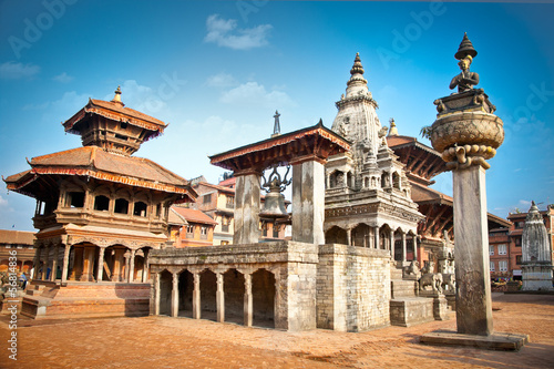Foto op Canvas Nepal Temples of Durbar Square in Bhaktapur, Nepal.