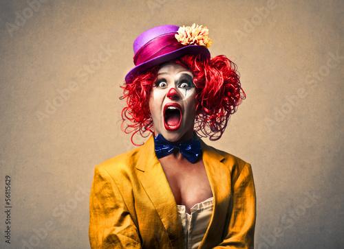 surprised clown Canvas Print