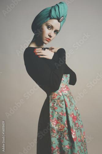 Stylish refined lady Fototapeta
