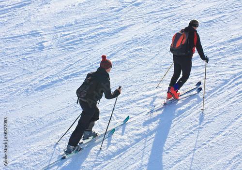 Fotografie, Obraz  Ski mountaineers