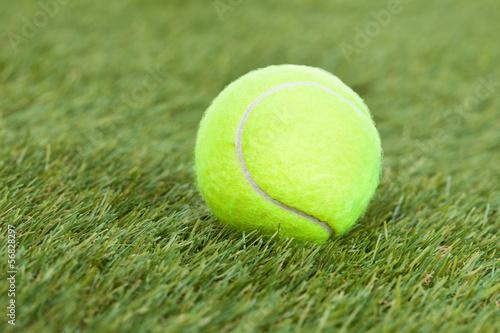 Fotografie, Obraz  Tennis Ball On Green Pitch