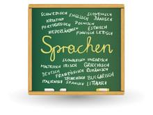 Schreibtafel - Sprachen(EU-Amtssprachen)