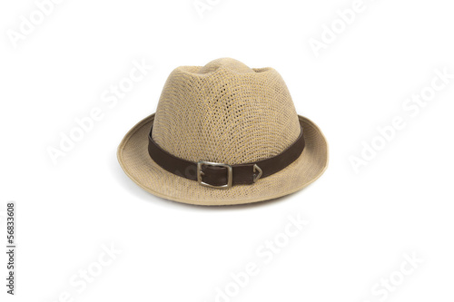 Photo Brown hat isolated on a white background