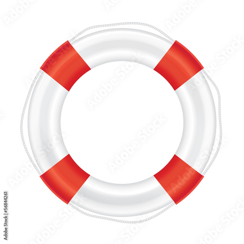938286f1e6a Lifebuoy with red stripes and rope (salvation) - Buy this stock ...