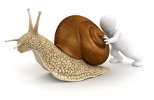 Man With Snail (clipping Path ...