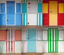 Wooden Beach Huts