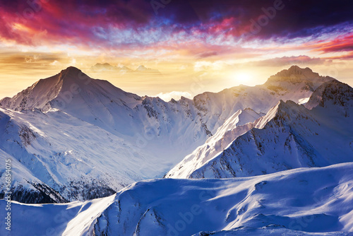 Foto op Canvas Beige mountain landscape